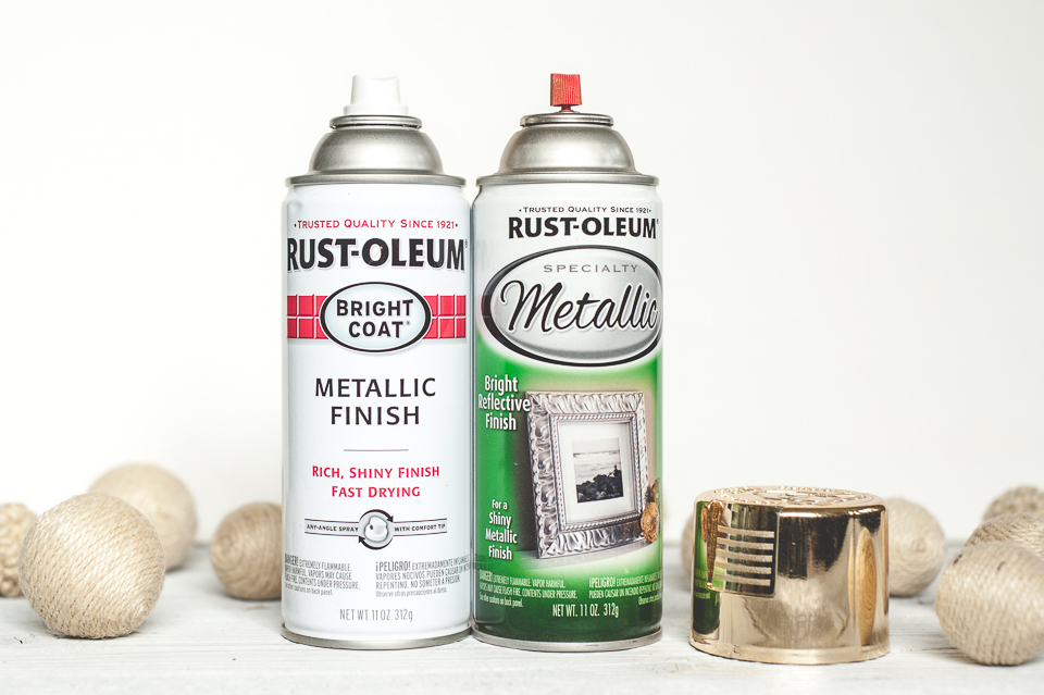 Rustoleum gold spray paint.