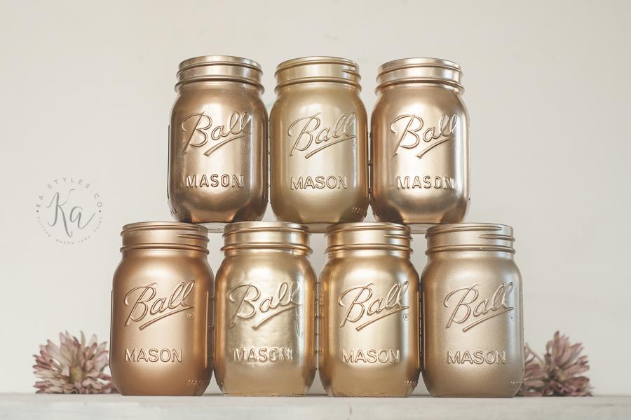 Glitter Mason Jars PaintKA Styles.coKa