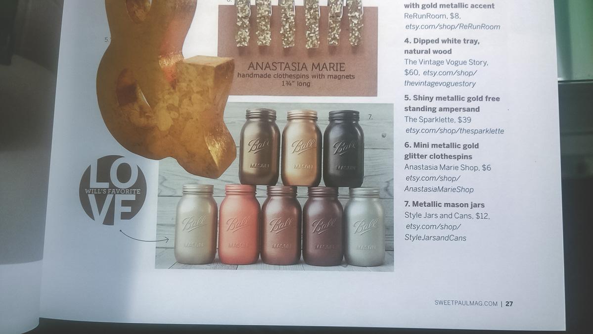 metallic mason jars, mason jar vases