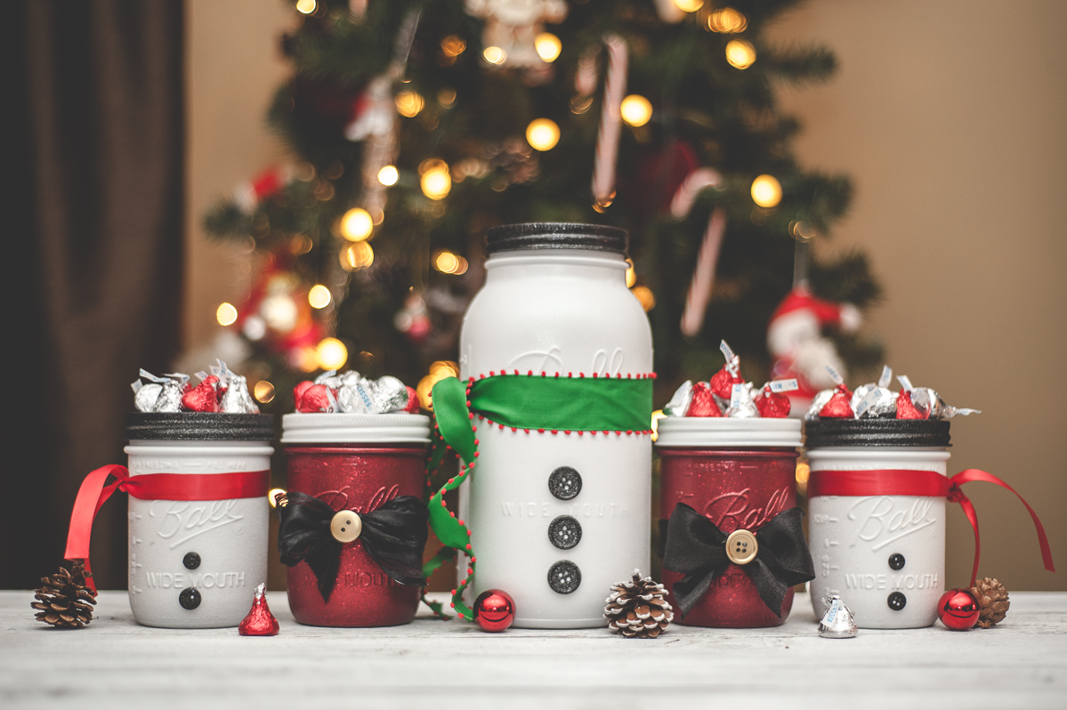 Mason Jars for Christmas, Robots, Monsters, and Snowmen - KA Styles