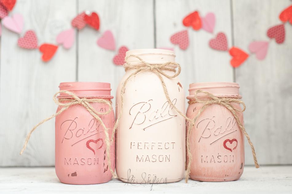 Valentines Day Mason JarsKA Styles Mason Jars  DIY