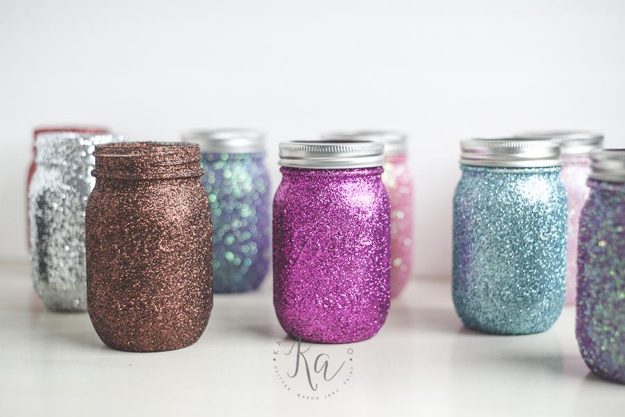 Glitter mason jars.