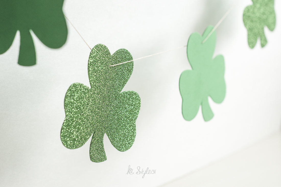 DIY shamrock garland.