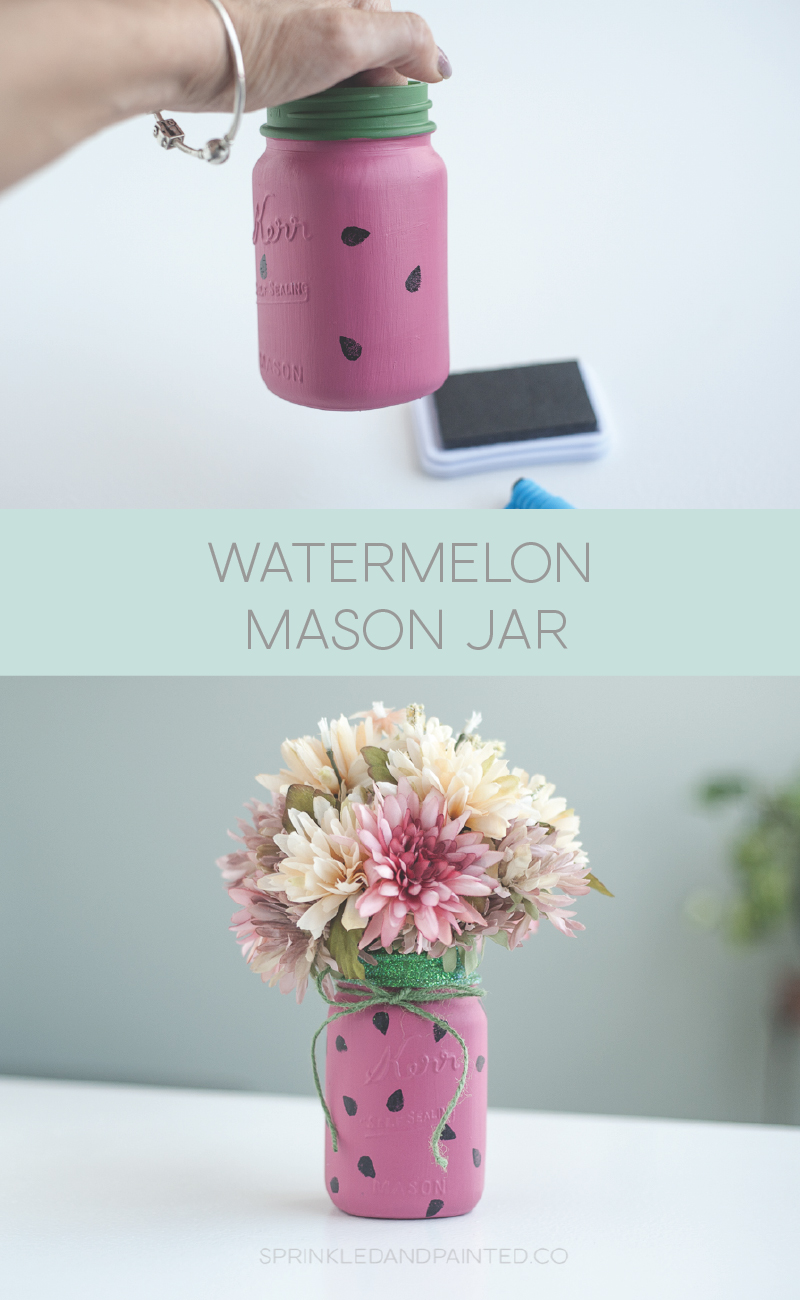 Watermelon mason jar.