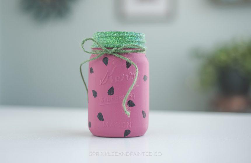 Watermelon Mason Jar Tutorial
