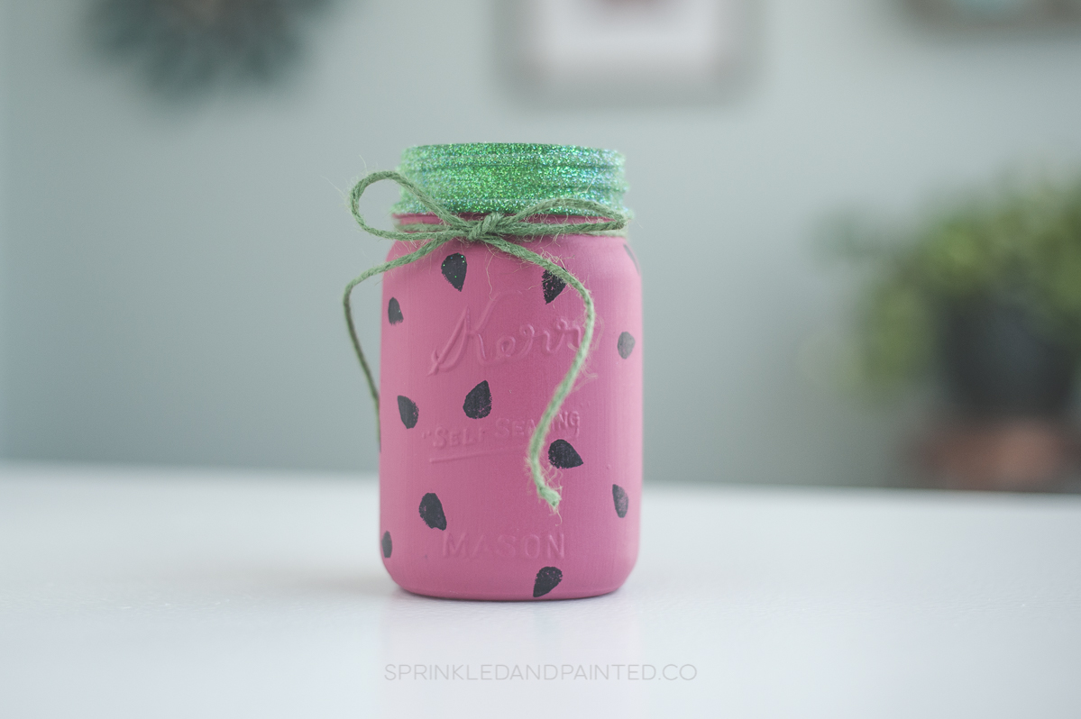 Watermelon Mason Jar Tutorial