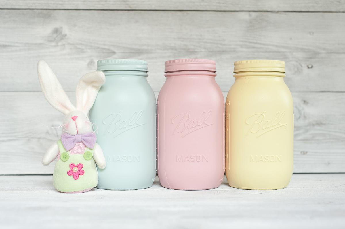painted quart mason jars