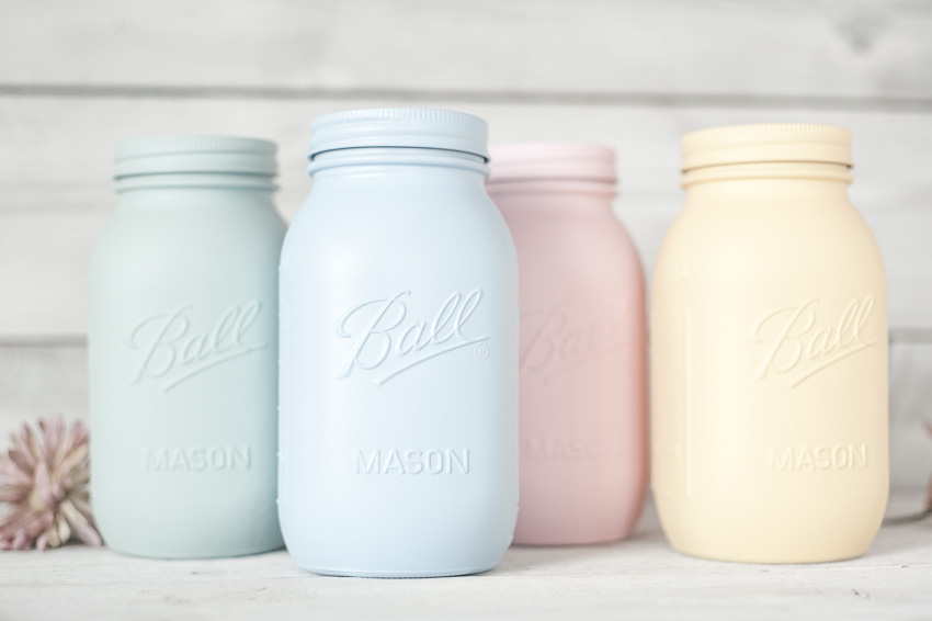 painted mason jar quarts