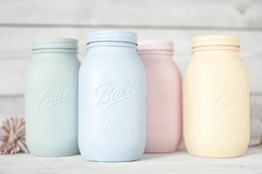 painted mason jar quarts