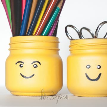 DIY Lego Head Mason Jars