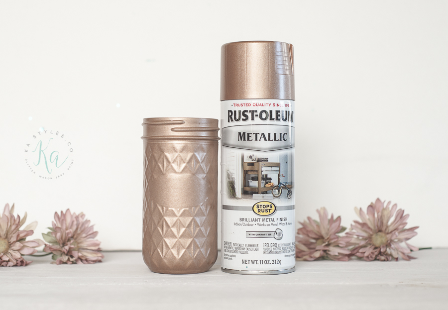 Rust-oleum rose gold spray paint color