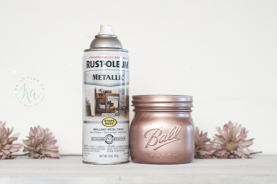 Blush copper spray paint. Use as rose gold.