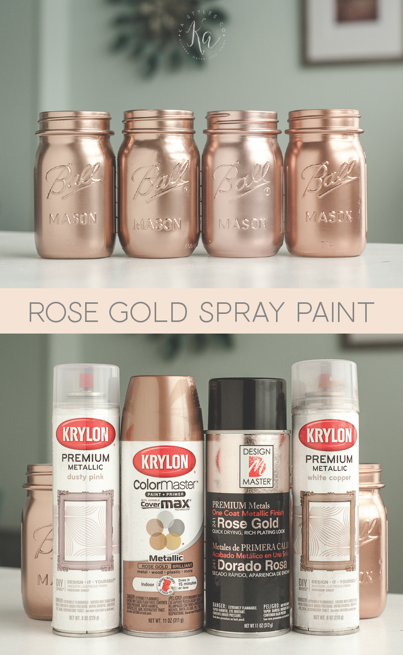Rose gold spray paint colors.