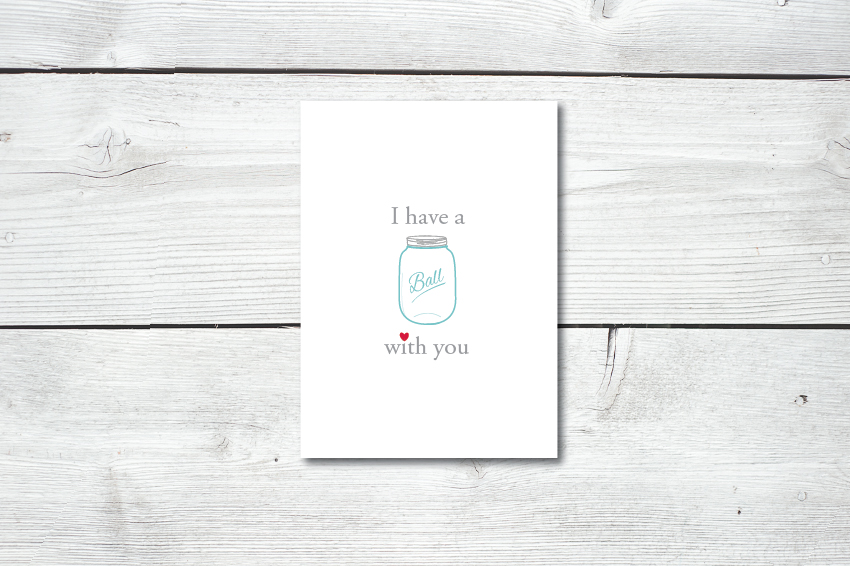 Mason jar printabe greeting card