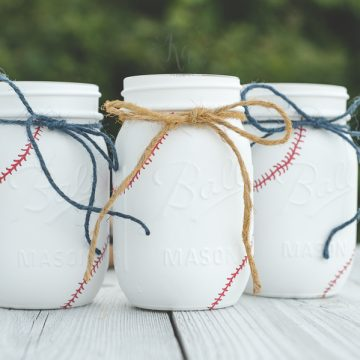More Baseball Mason Jars