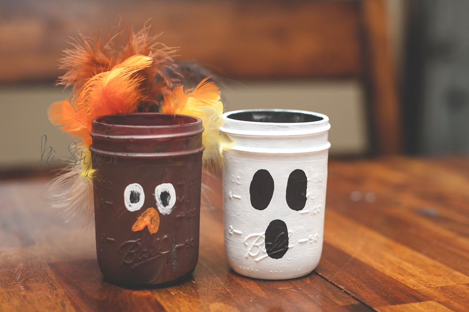 DIY turkey mason jars