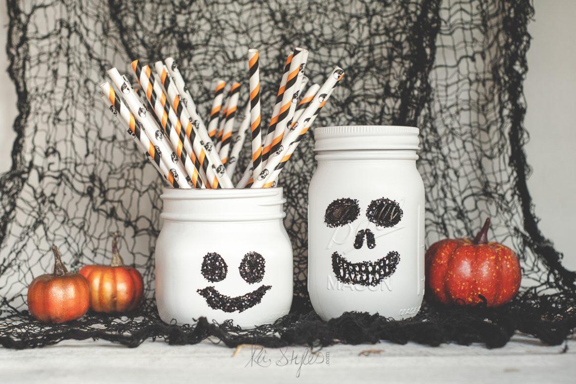 Fall Mason Jars, Pumpkins & Halloween