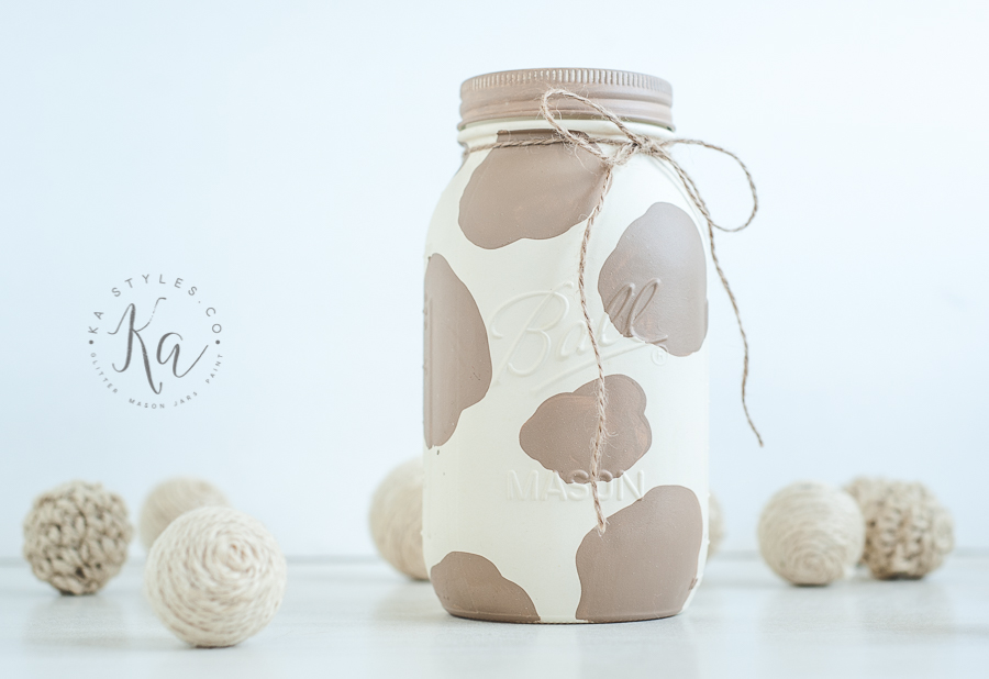 Cow Painted Mason Jar