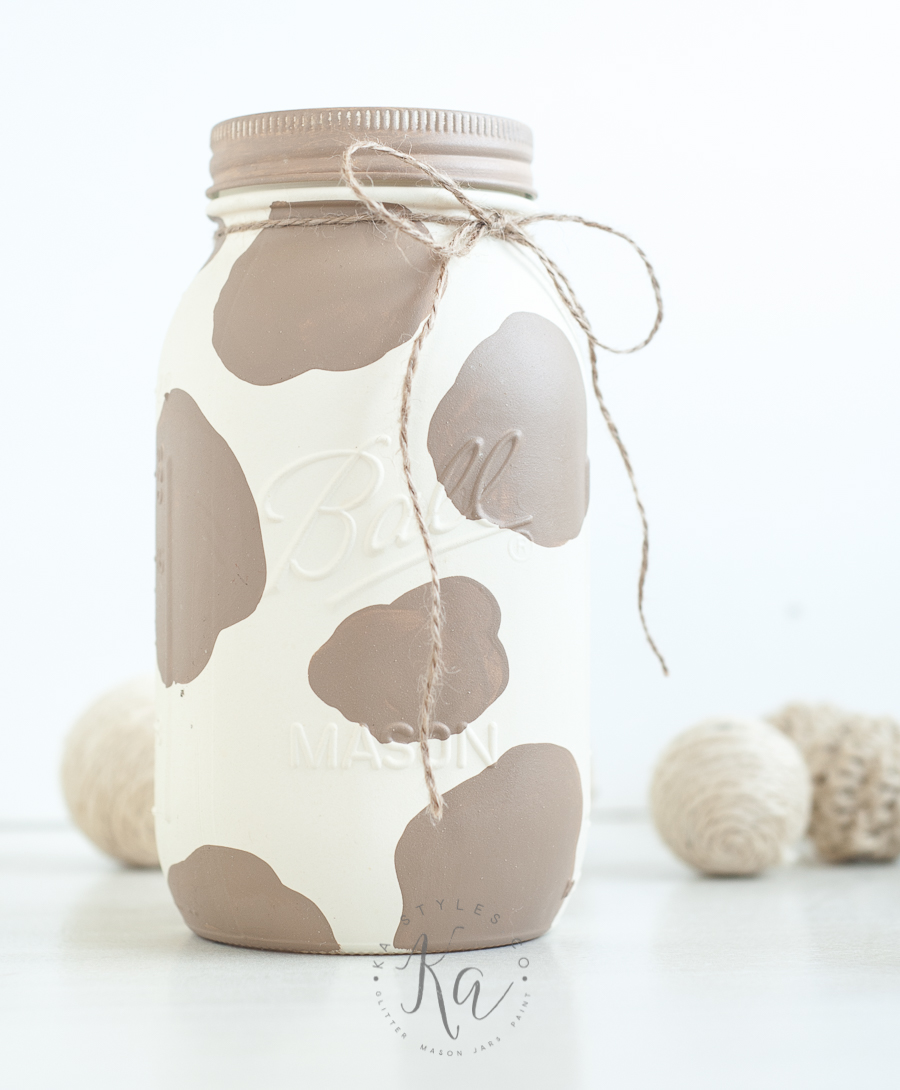 cow-painted-mason-jar