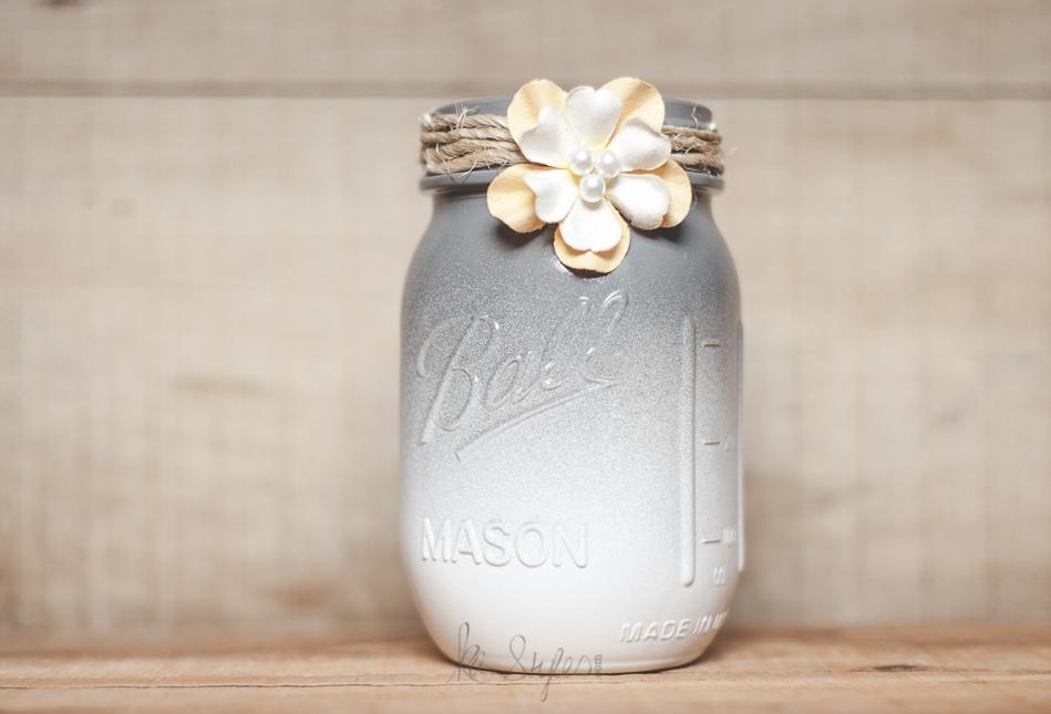 Gray mason jars.