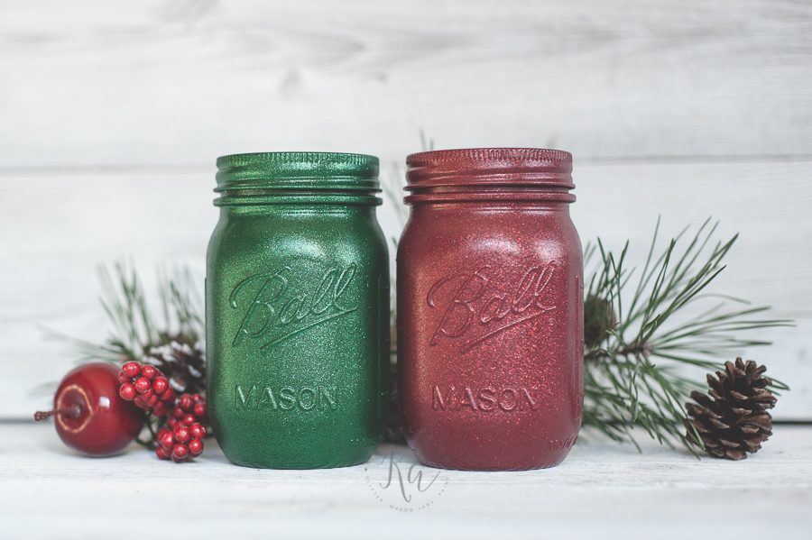 green-and-red-glitter-holiday-mason-jars