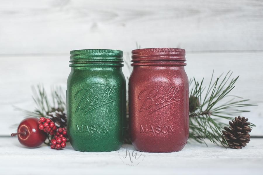 green-and-red-glitter-holiday-mason-jars