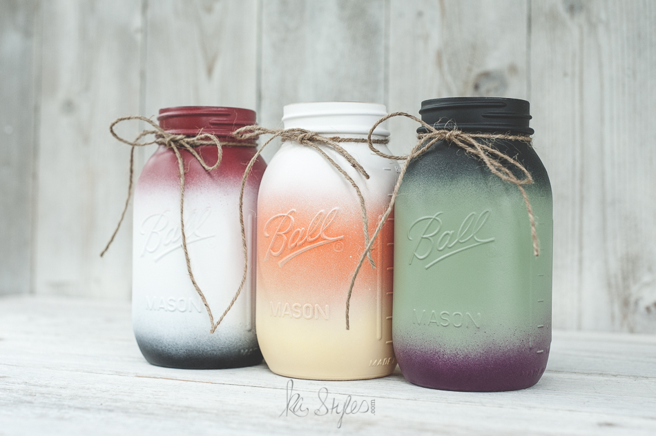 mason jars painted - photo #39