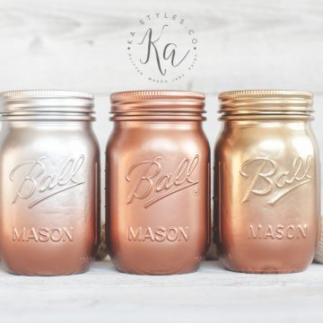 Ombre Mason Jar Round Up