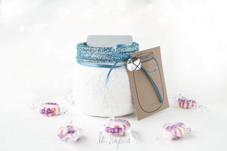 DIY Snowball Mason Jar decor or party favors.