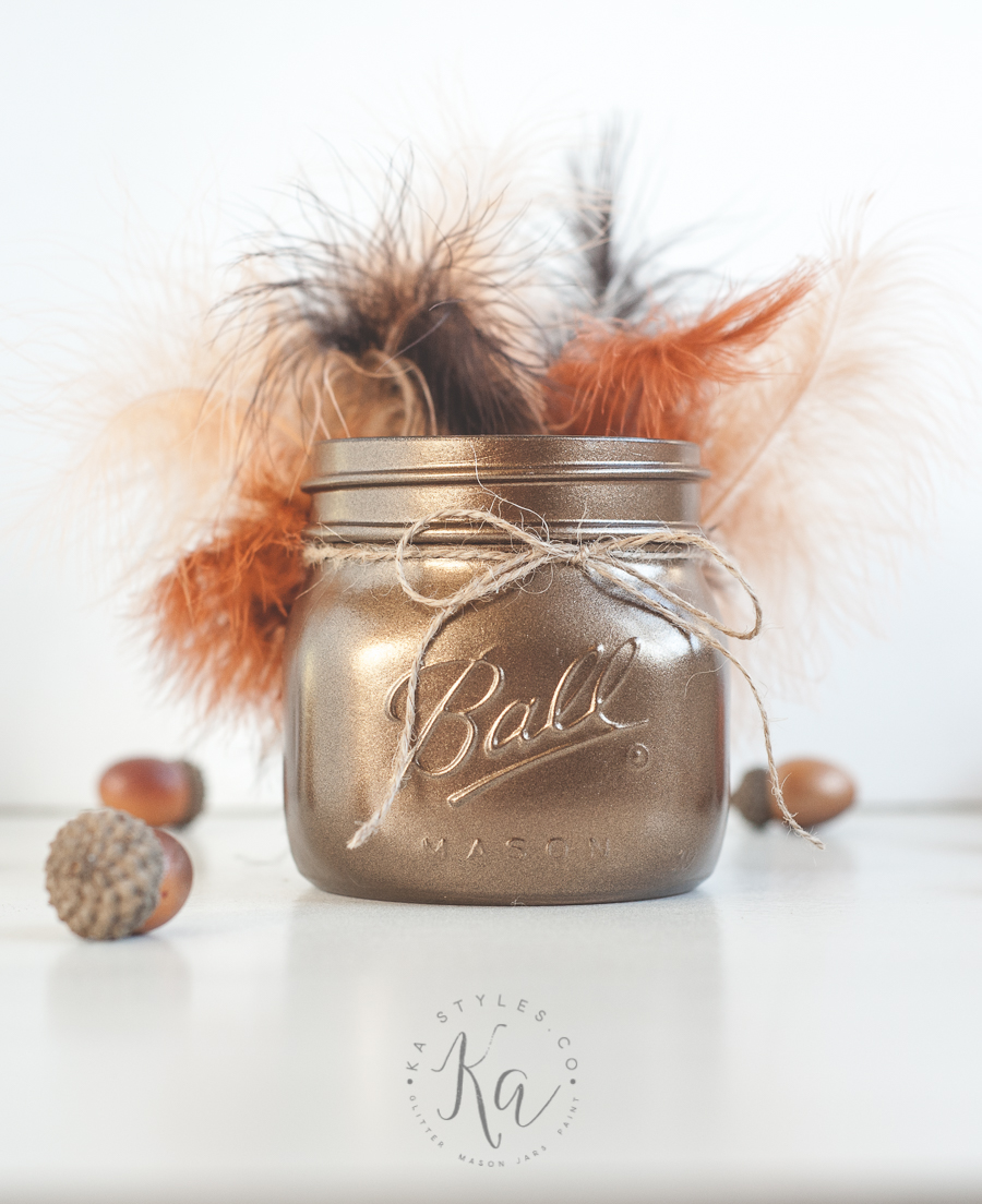 DIY Thanksgiving Turkey mason jar.