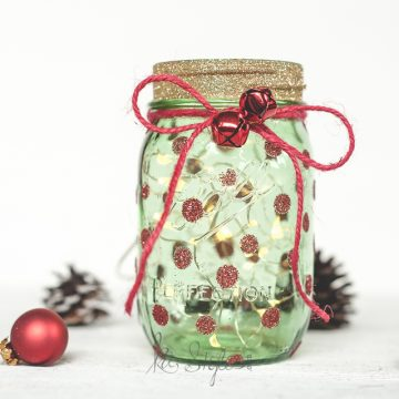 Christmas Tree Mason Jar