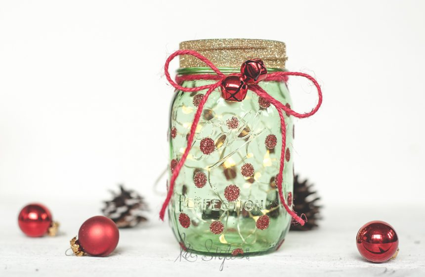 Christmas Tree Mason Jar