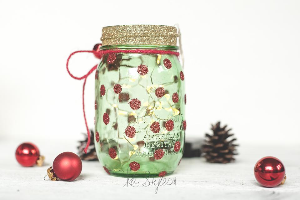 Green mason jar Christmas tree-3