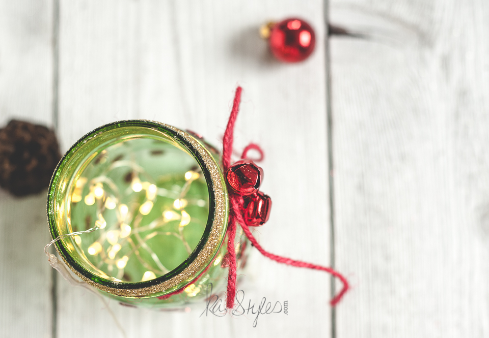 Green mason jar Christmas tree-4