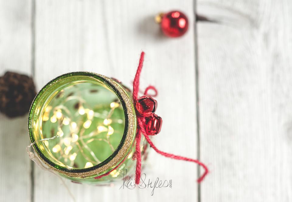 Green mason jar Christmas tree-4
