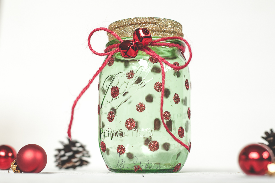 Green mason jar Christmas tree-7