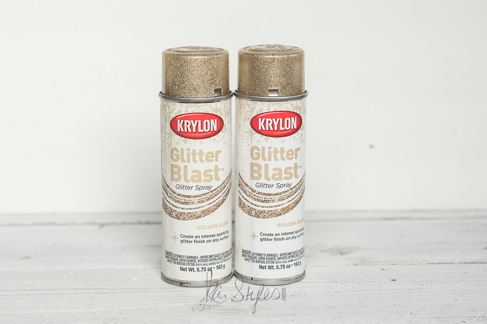Krylon glitter spray gold