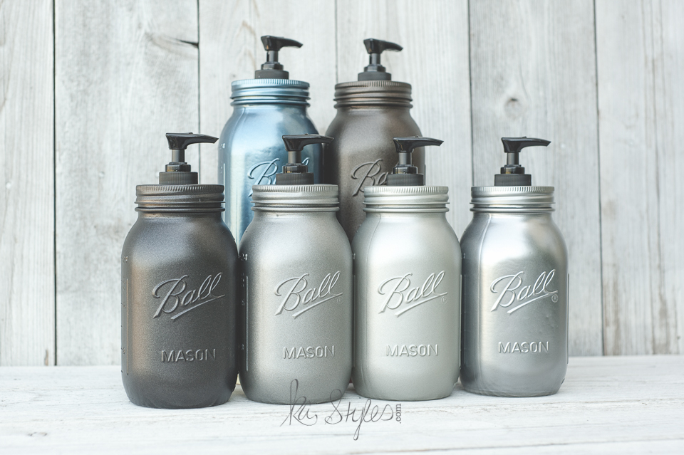 rust oleum metallic spray paints ka styles mason jars diy. Black Bedroom Furniture Sets. Home Design Ideas