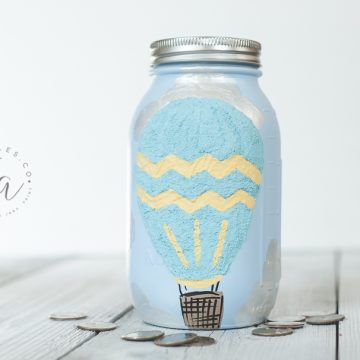 Hot Air Balloon Mason Jar