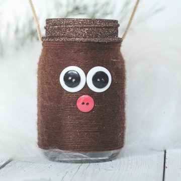 Reindeer Mason Jar Luminary