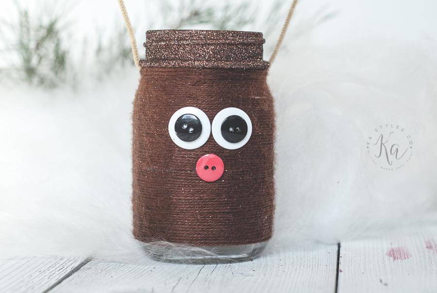 Reindeer Mason Jar Luminary