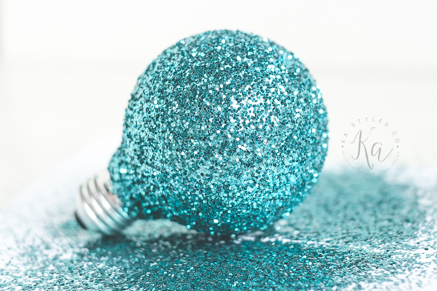 Glitter Light Bulb Ornament