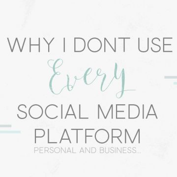Why I Don't Use Every Social Media Platform