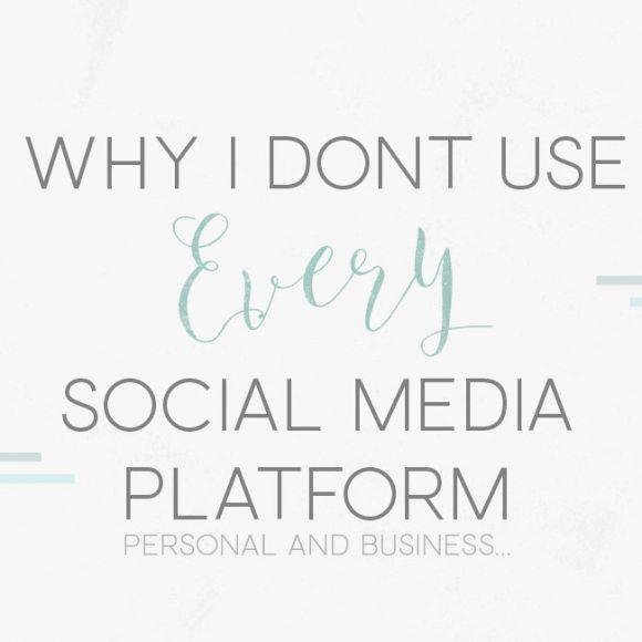 Why I Don't Use Every Social Media Platform