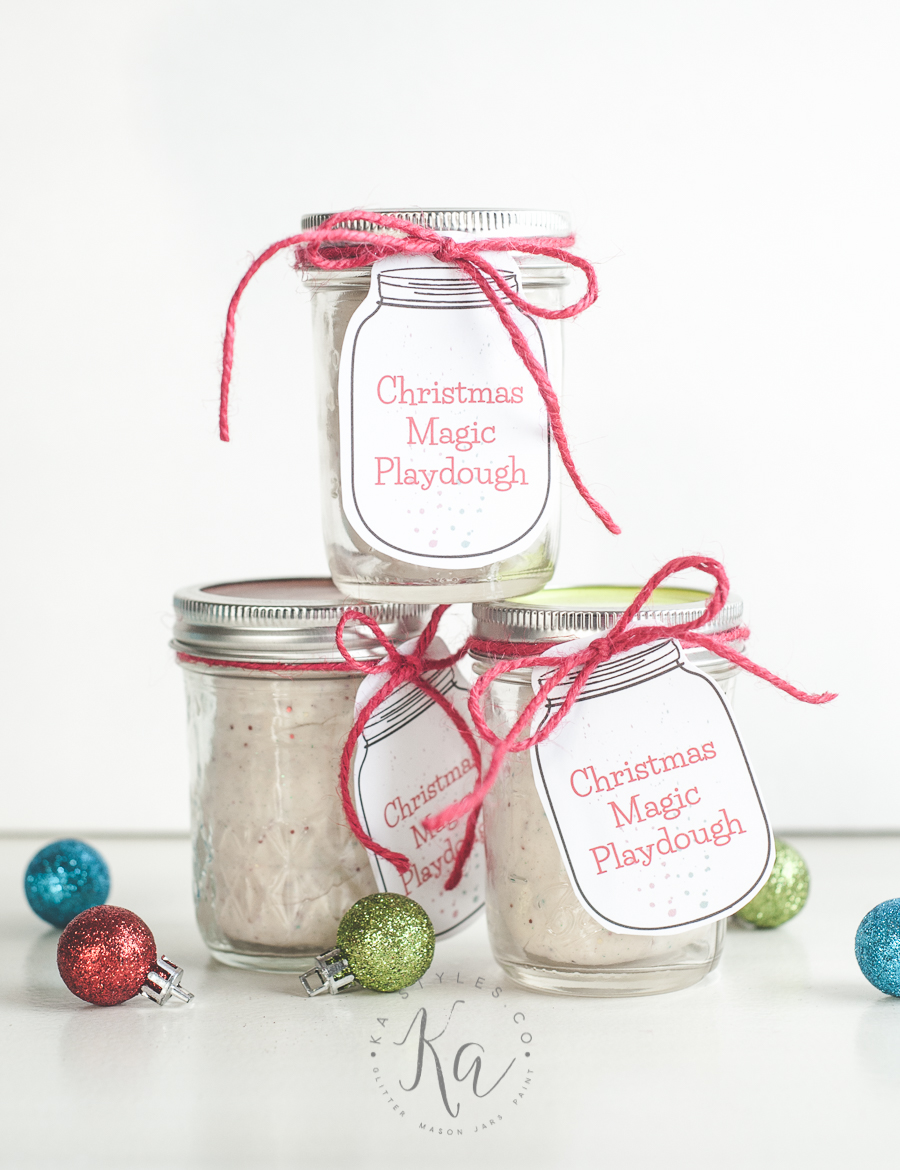 DIY playdough recipe with printable gift tag.