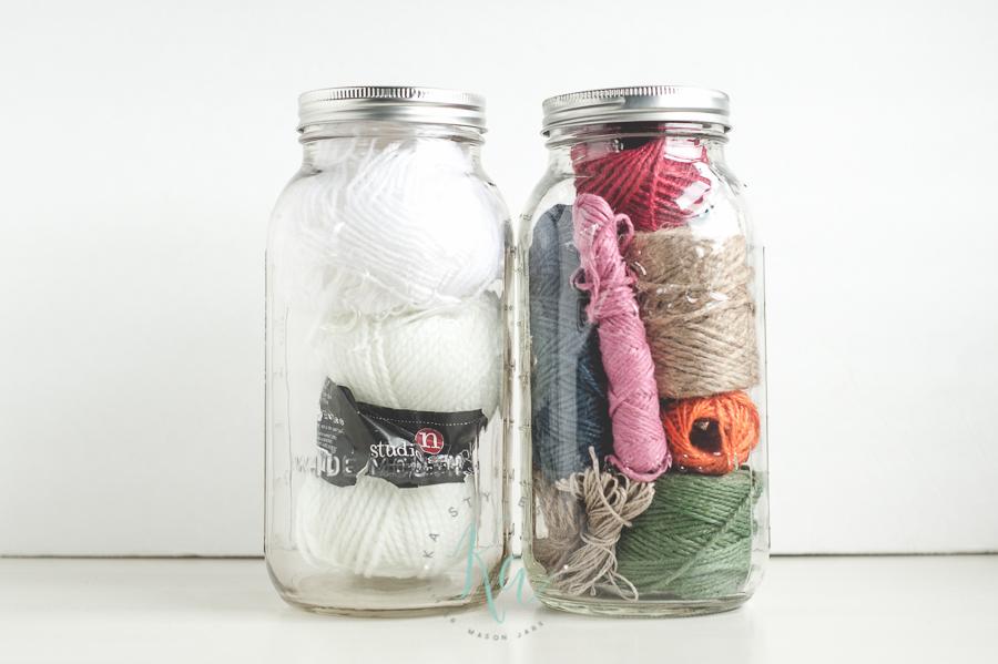 Mason jar organizing.