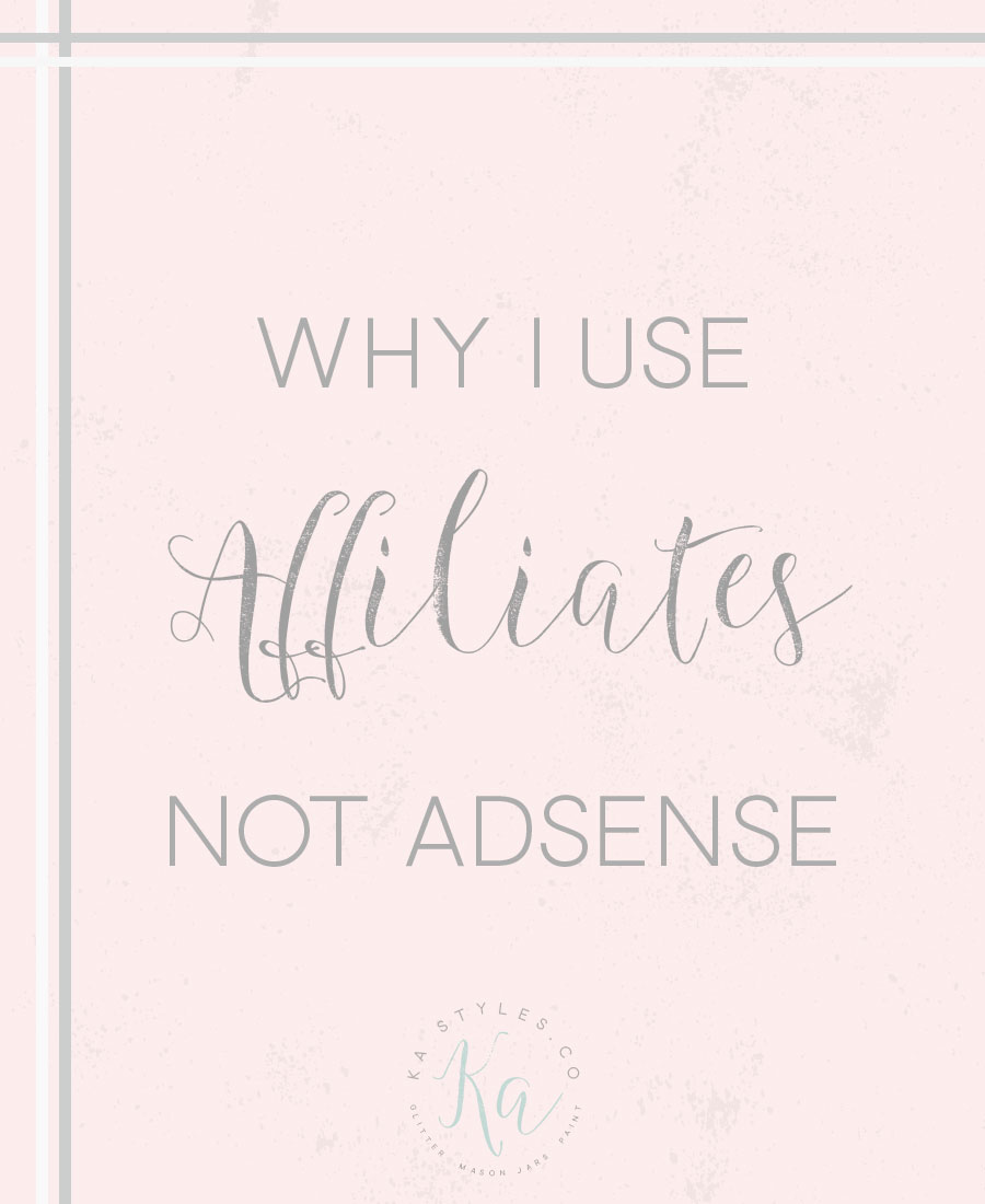 Why I use affiliates and not adsense.