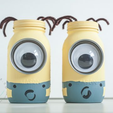 Minion Mason Jar Coin Banks
