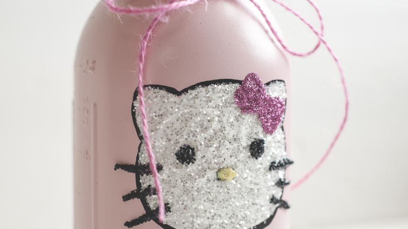Hello Kitty Glitter Mason Jar