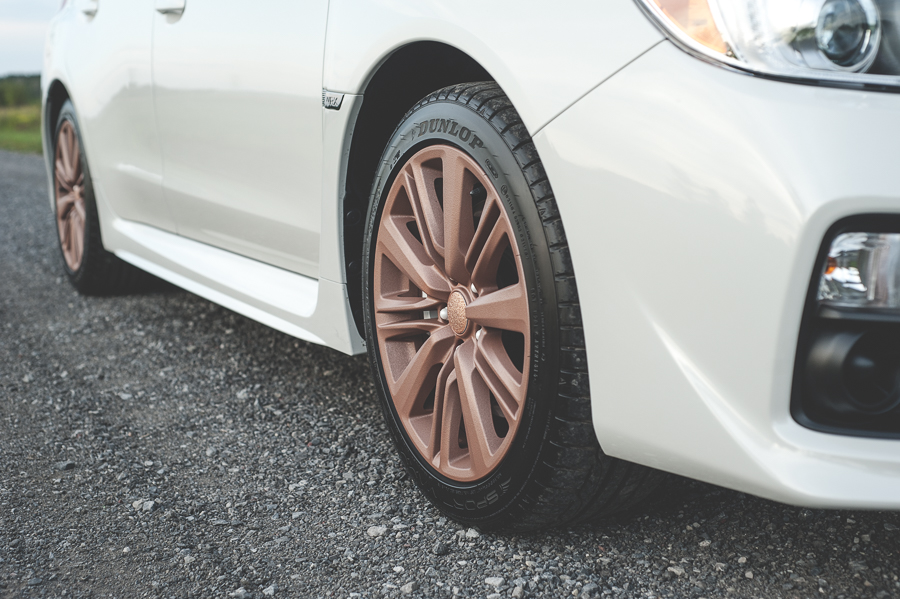 Rose gold rims, Plasti Dip.